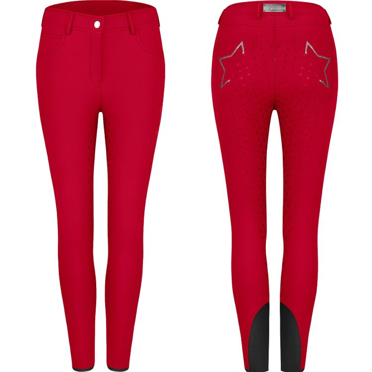 Cavallo Reithose Cleo Grip in red chilli (Vollbesatz)