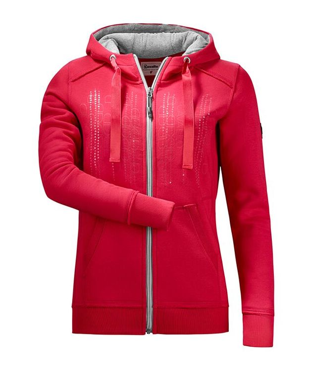 Cavallo Sweat-Hoody Kesha in red chilli