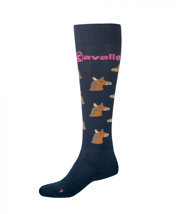 "Cavallo Kniestrumpf "" Lama "" in navy"