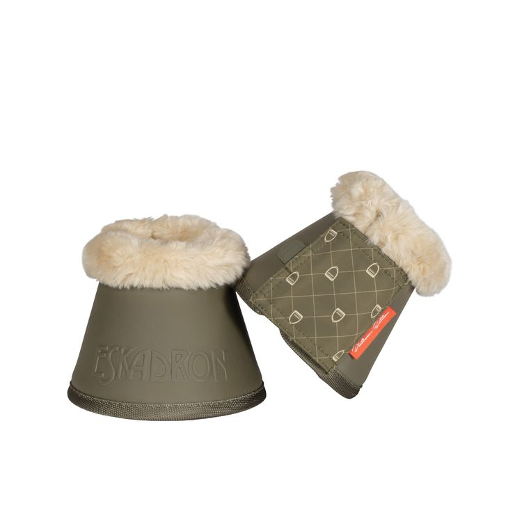 Eskadron Platinum Sprungglocken Faux Fur in martini-olive