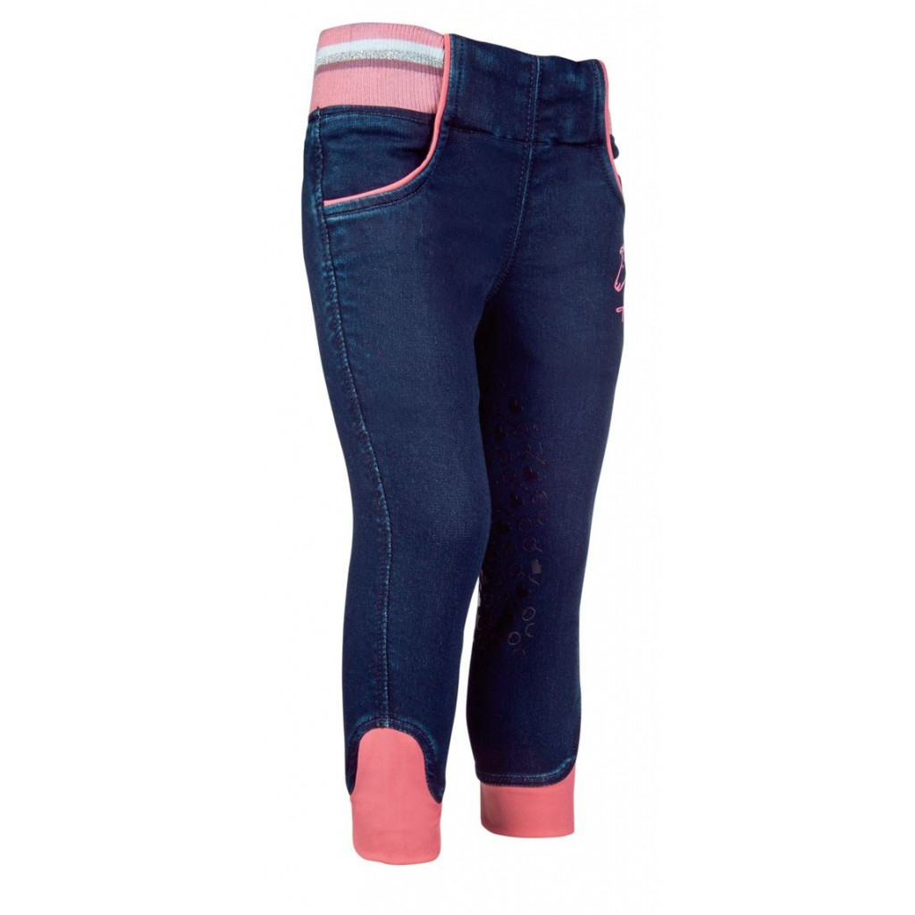 HKM Reitjeggins Denim Julia-Kniegrip in dunkelblau