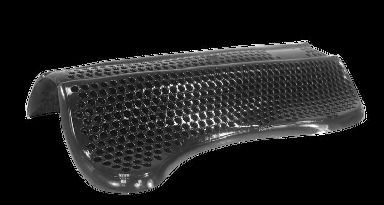 EQ Gel Pad Comfort- Wirbelsäulenkanal frei in schwarz