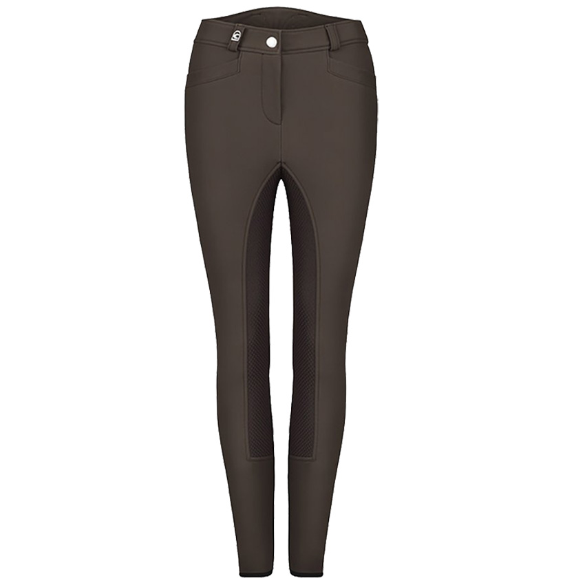 Cavallo Damen Softshell Reithose Carla Grip-S in espresso-graphite