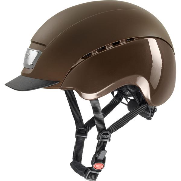 Uvex Reithelm uvex elexxion pro in brown mat - shiny