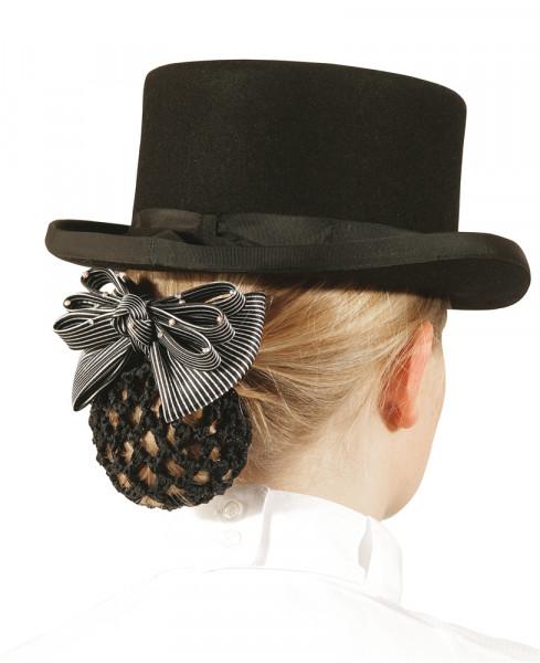 Pfiff Haarspange mit gehäkeltem Netz, Farbe schwarz