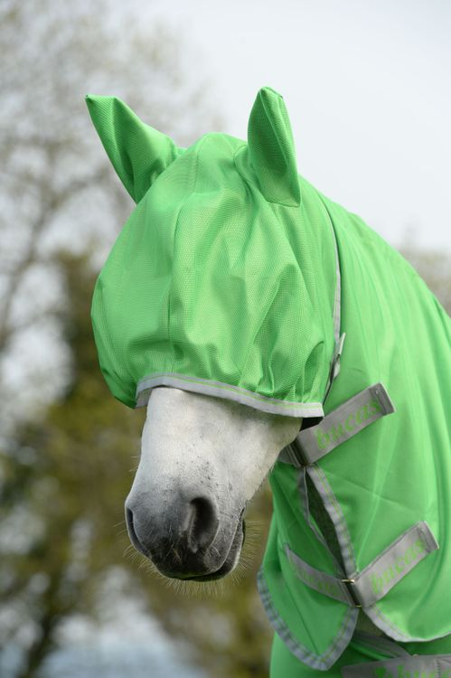 Bucas Freedom Fly Mask Classic Green und Hot Pink FS 2020