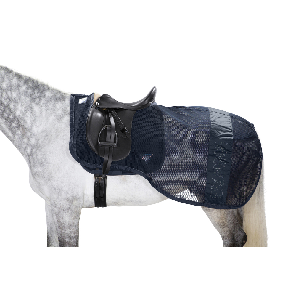 Eskadron Ausreitdecke Fly Exercise Sheet in navy-skyblue