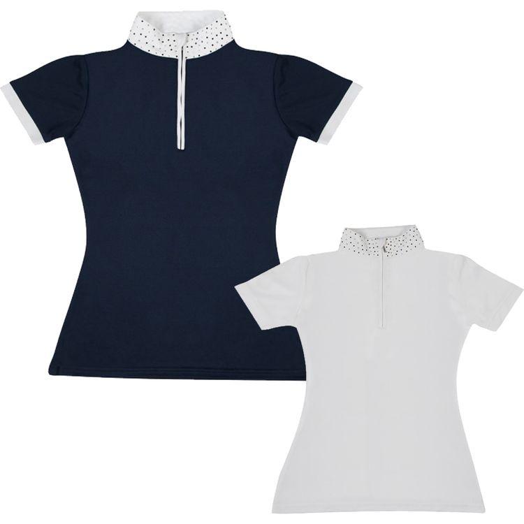 PFIFF Damen Turniershirt Crystal in navy & weiß - NEU
