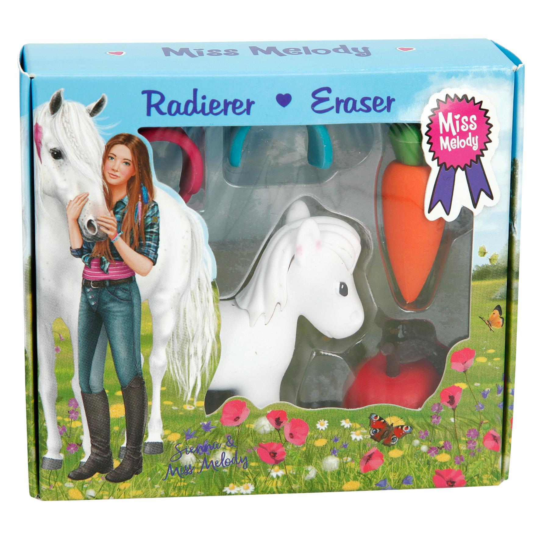 Miss Melody Radiergummi Set - Pferd weiß