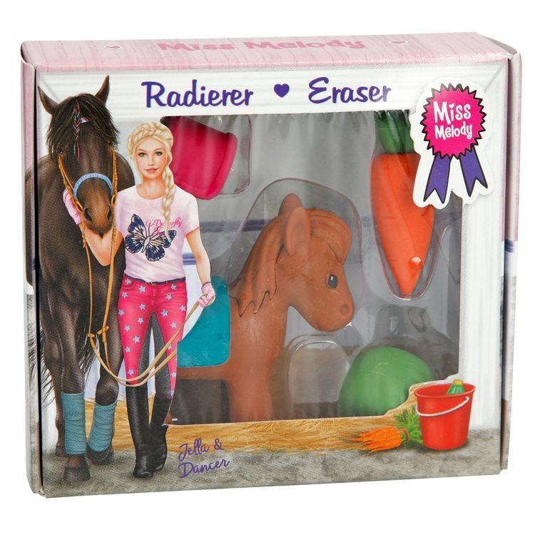 Miss Melody Radiergummi Set - Pferd braun