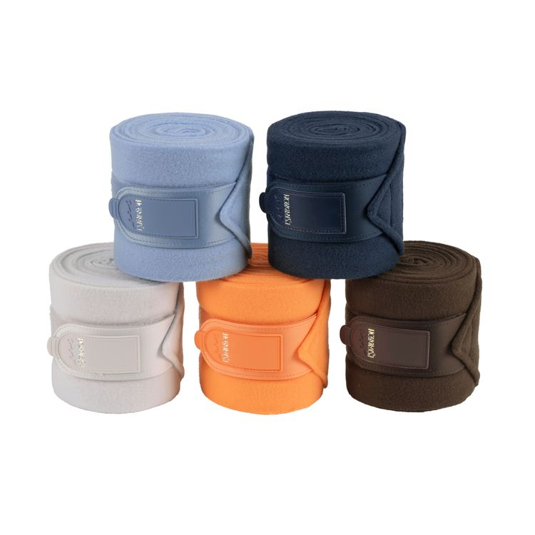 Eskadron Fleecebandagen in navy/skyblue/coolgrey/papaya/brown
