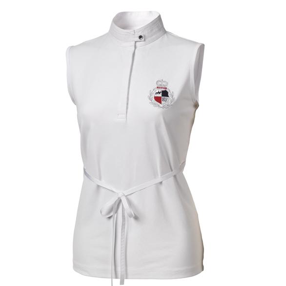Pikeur - Modisches Damen Turniershirt mit Taillengürtel in weiß