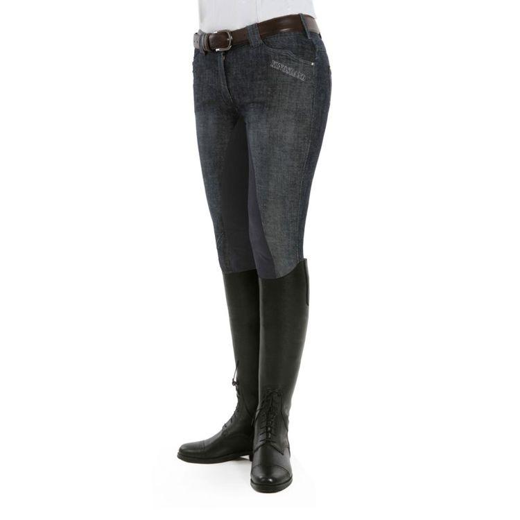 Kingsland Damenreithose mit kniebesatz Kelly Jeans in black