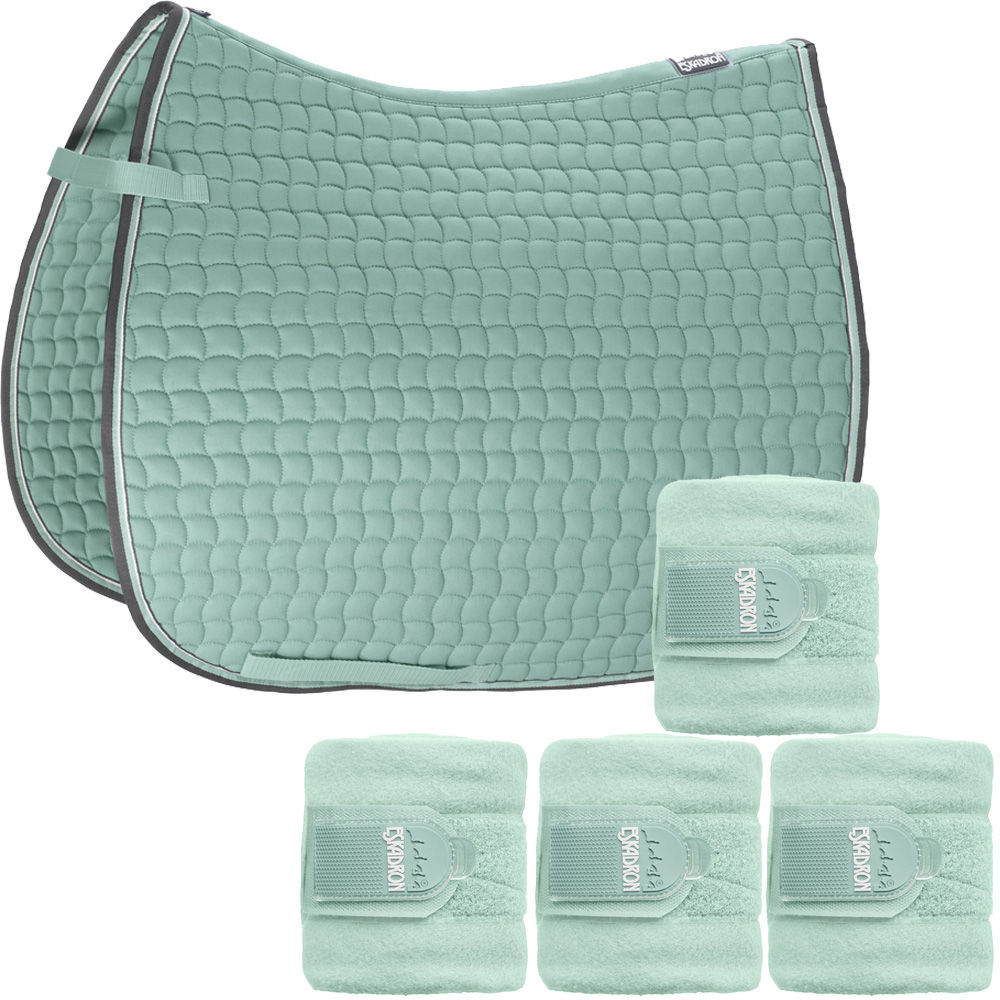 Set Eskadron Basic Cotton Schabracke mit Fleecebandagen in ice