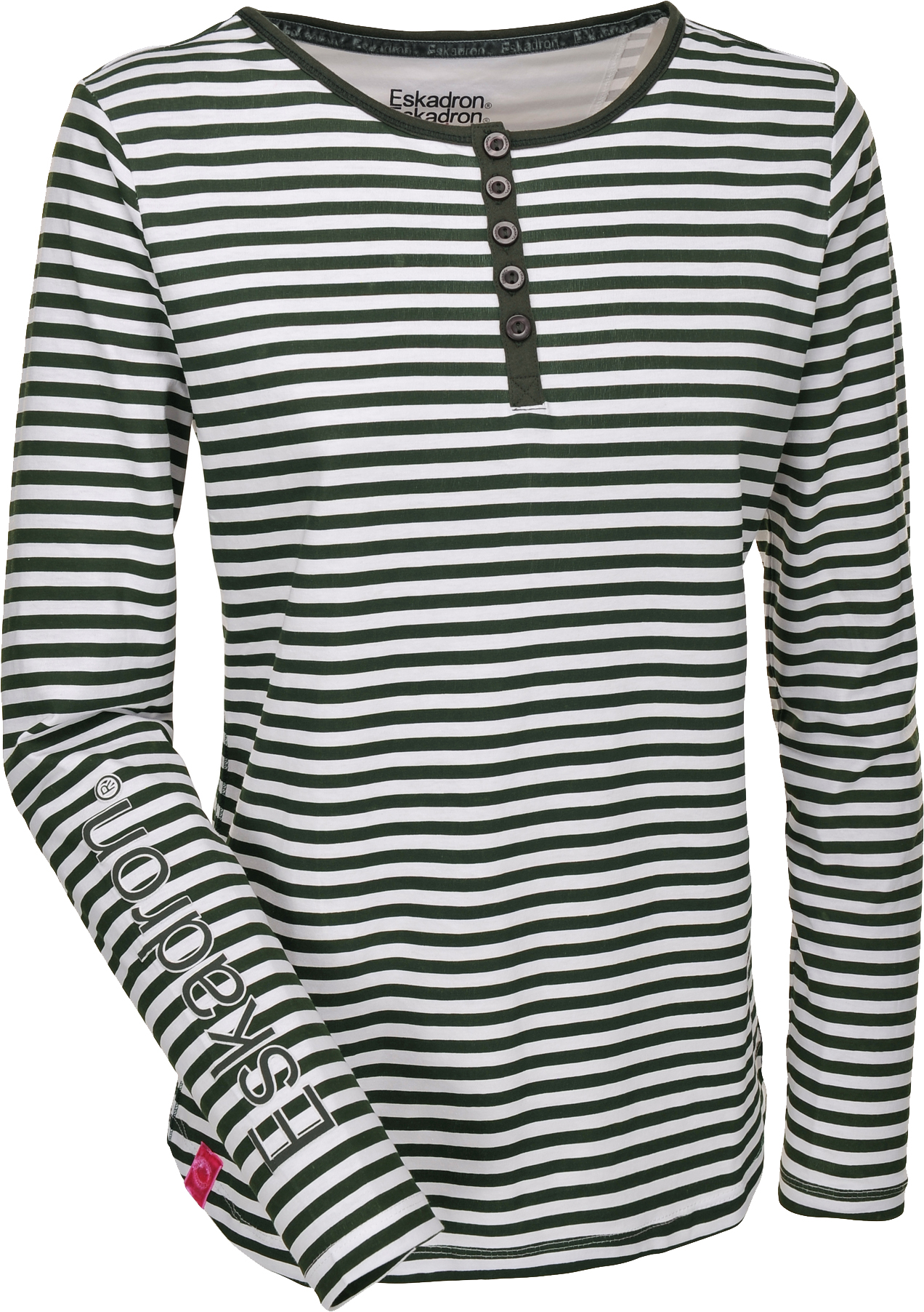 Eskadron Fanatics Shirt Women DANA longsleeve in olive-white-striped