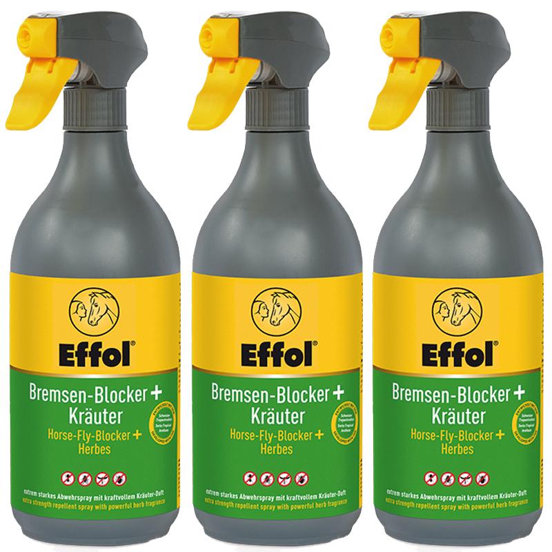 Effol Bremsen Blocker + Kräuter - 3 Flaschen a 750ml
