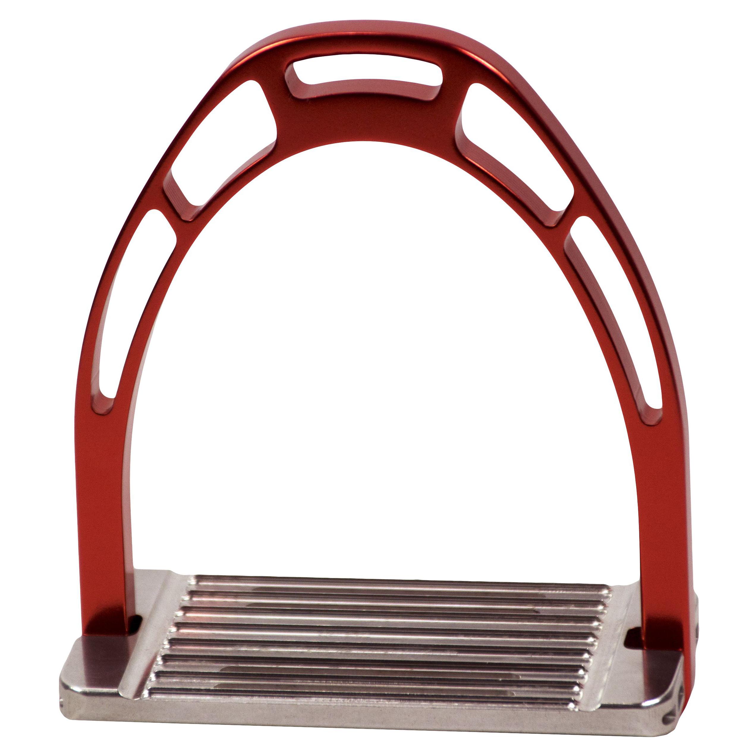 ACAVALLO - Steigbügel Arco Alupro, Farbe red