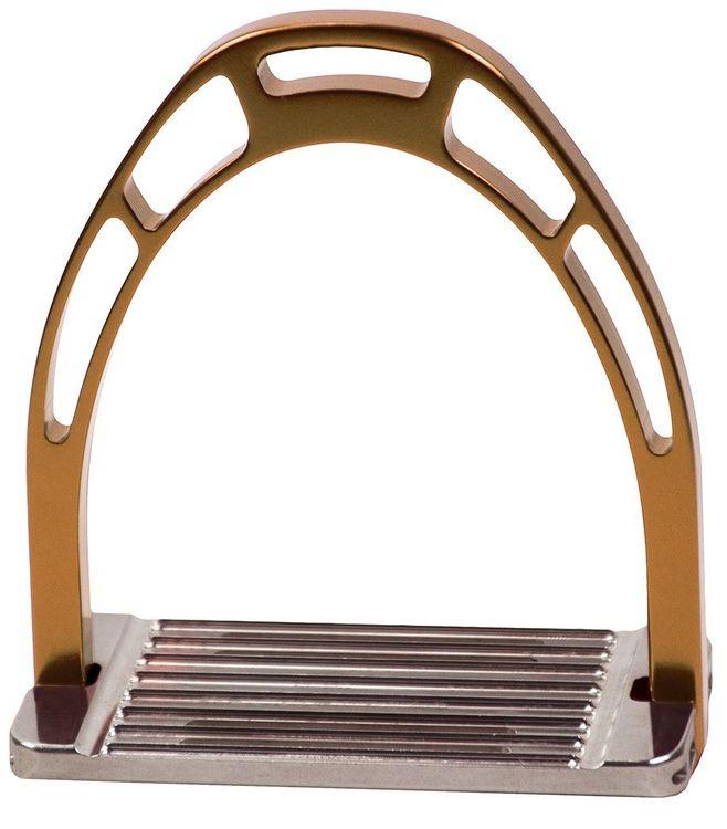 ACAVALLO - Steigbügel Arco Alupro, Farbe bronze