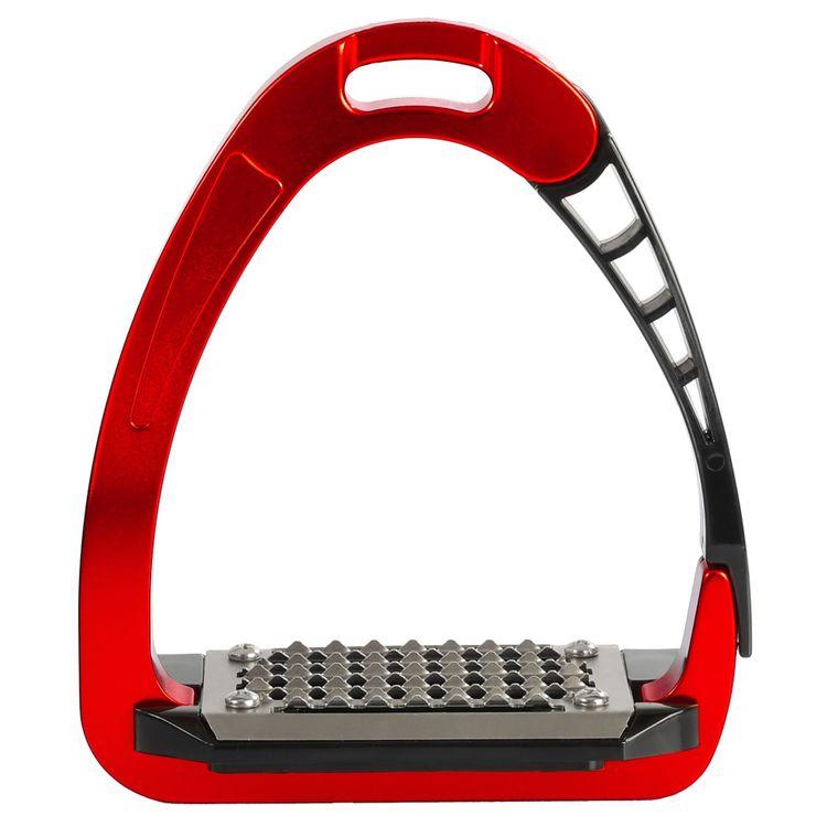 ACAVALLO - Sicherheits-Steigbügel Arena Alupro, Farbe rot