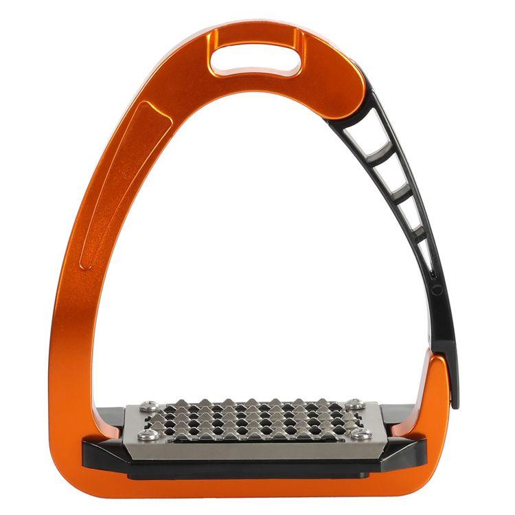 ACAVALLO - Sicherheits-Steigbügel Arena Alupro, Farbe orange