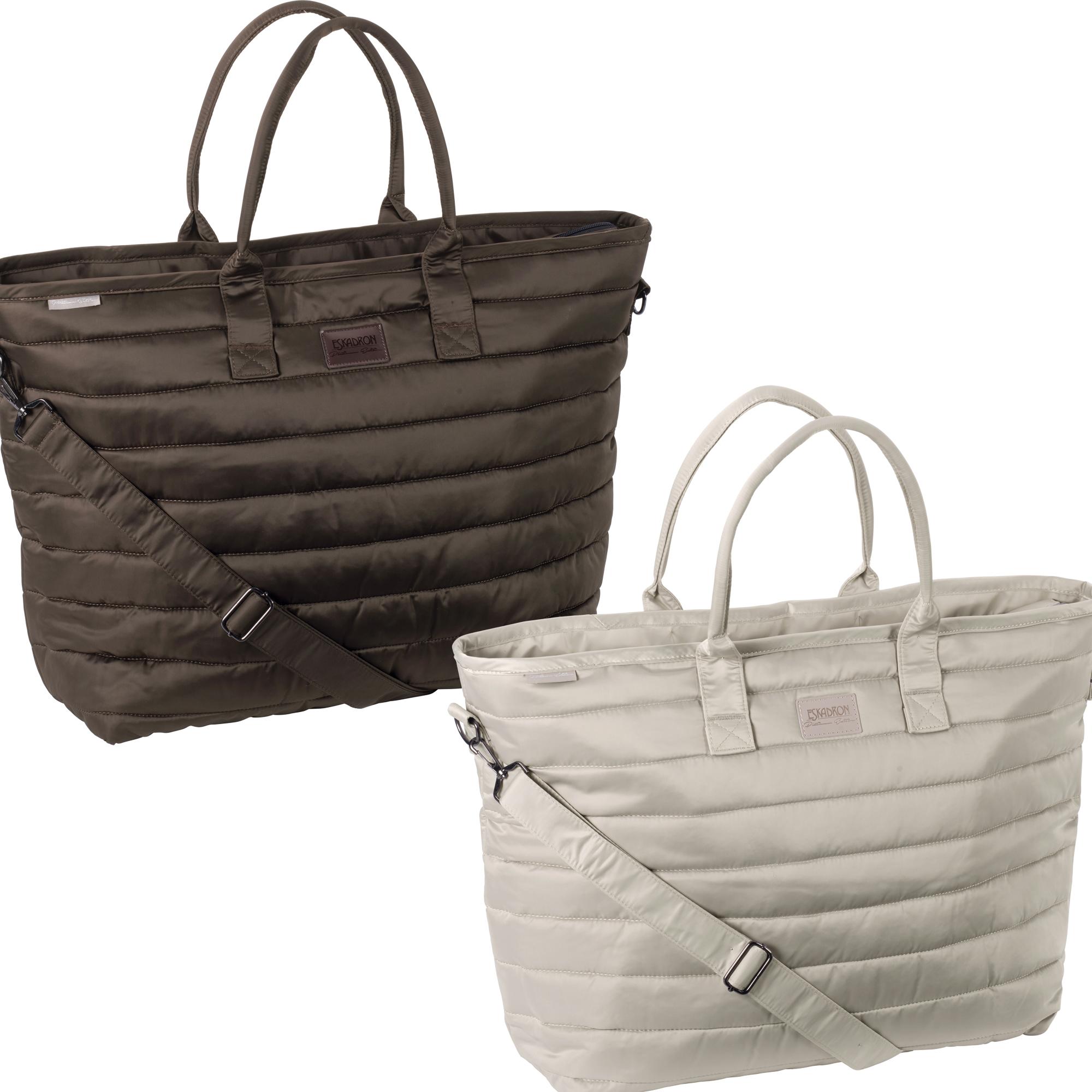 Eskadron Platinum Tasche Glossy Shopper in havannabrown oder greige