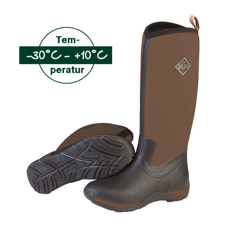 Muck Stiefel - Artic Adventure Solid Tan in Schwarz-Tan