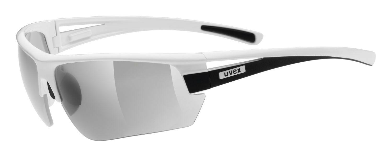 UVEX Gravic Sonnenbrille Sportbrille - white black mat