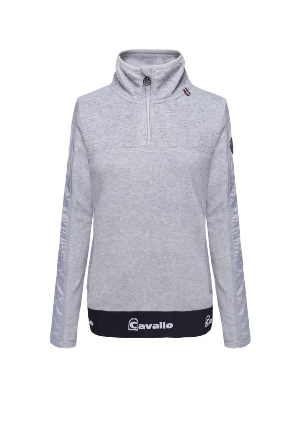 Cavallo Fleece Shirt Reina in grey melange Herbst- Winter 2020/2021