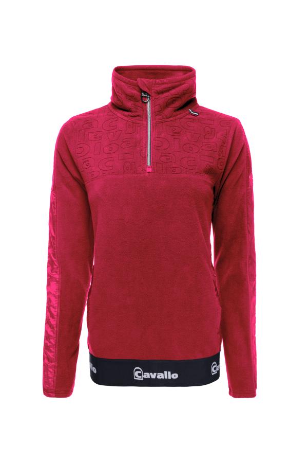 Cavallo Fleece Shirt Reina in salsa red Herbst- Winter 2020/2021