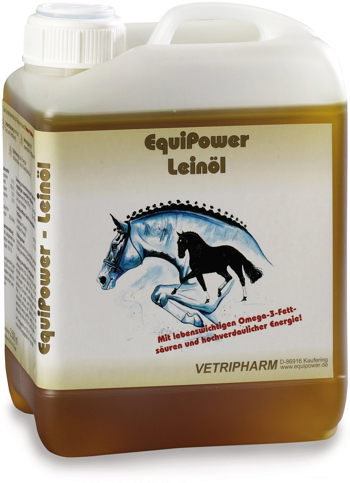 EquiPower Leinöl für Pferde, 2,5 Liter Kanister