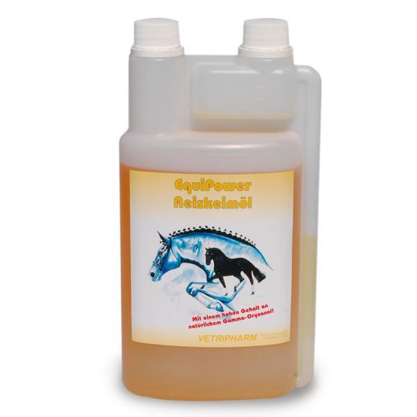 EquiPower Reiskeimöl für Pferde, 1 Liter Flasche