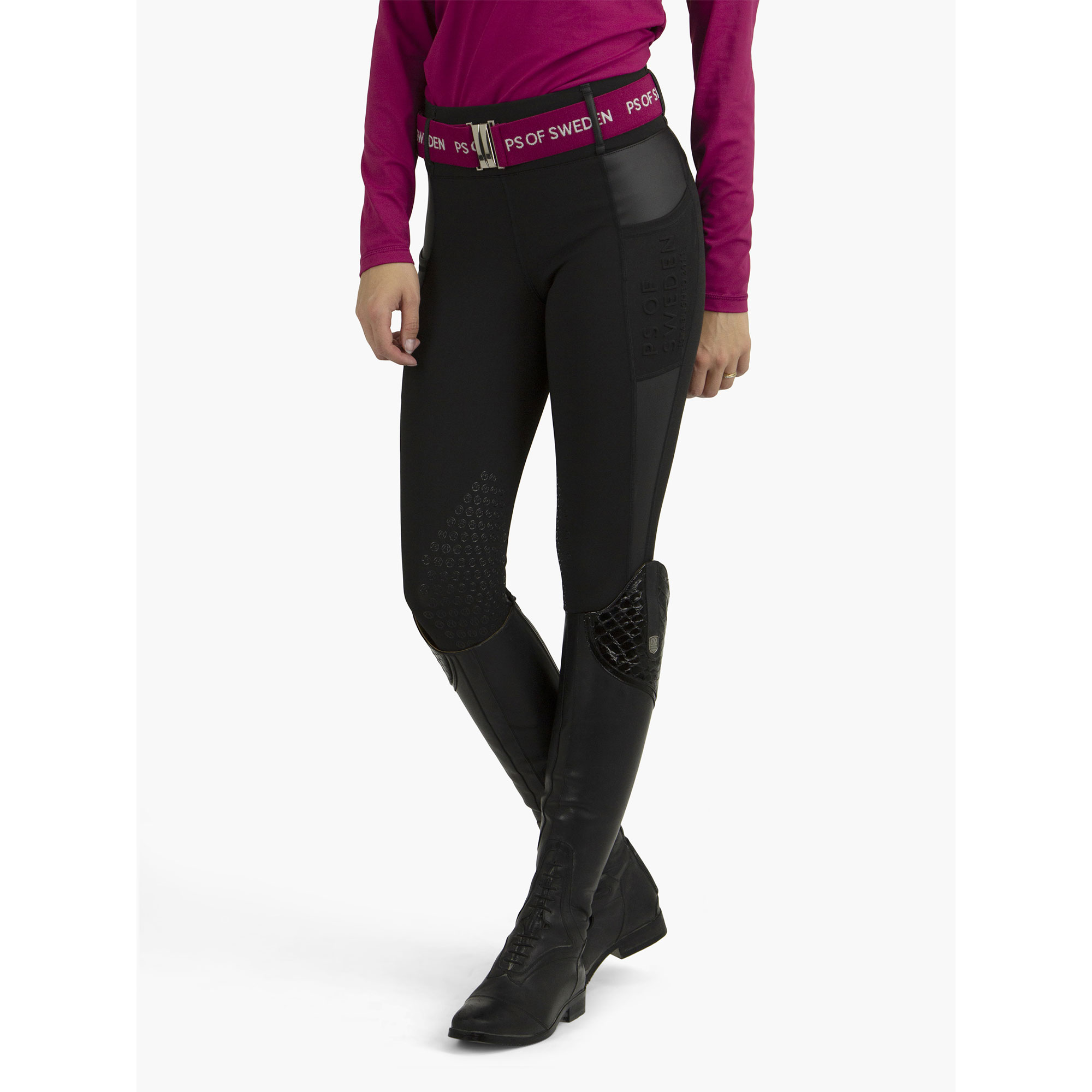 PS of Sweden Cindy Full Grip Reit-Breggings Damen - Black