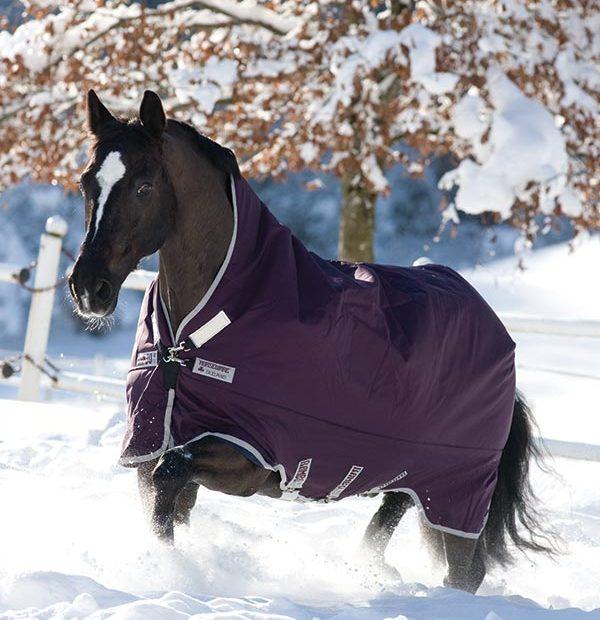 Horseware Rambo WUG Turnout lite 0g - purple with silver - Weidedecke - Regendecke, Gr. 145