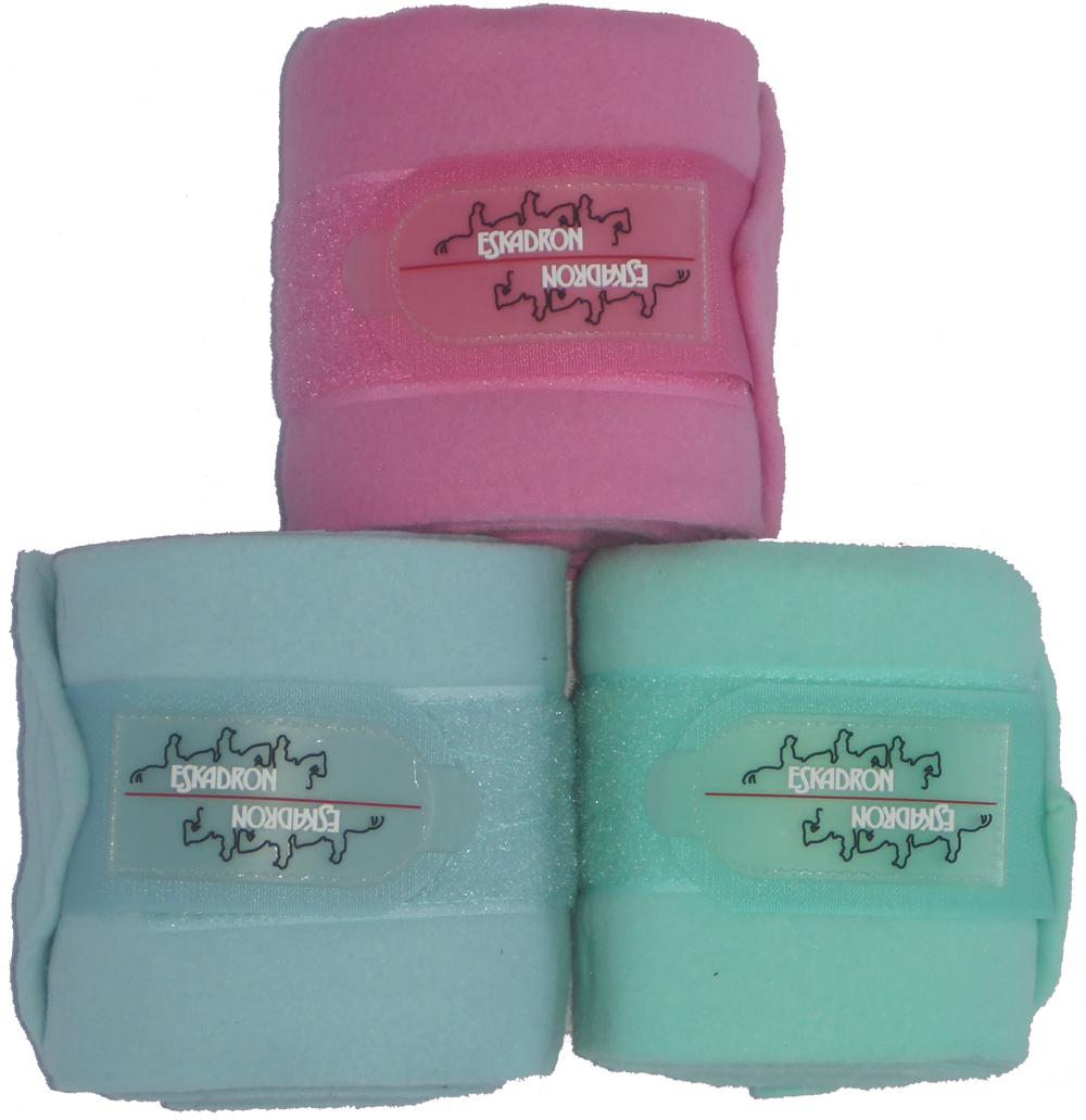 ESKADRON Fleecebandagen in jelly pink, Gr. Warmblut, 4er Set