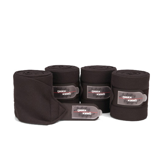 ESKADRON Fleecebandagen in teak, Warmblut, 4er Set, Kollektion aqua/teak/mint