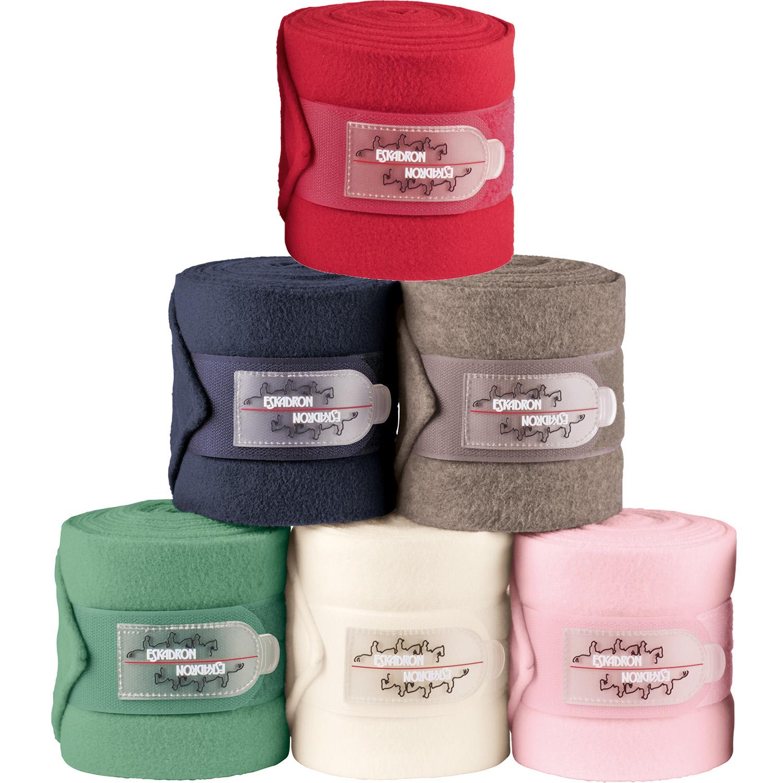 ESKADRON Fleecebandagen in chocochip, Warmblut, Kollektion chocochip/pink