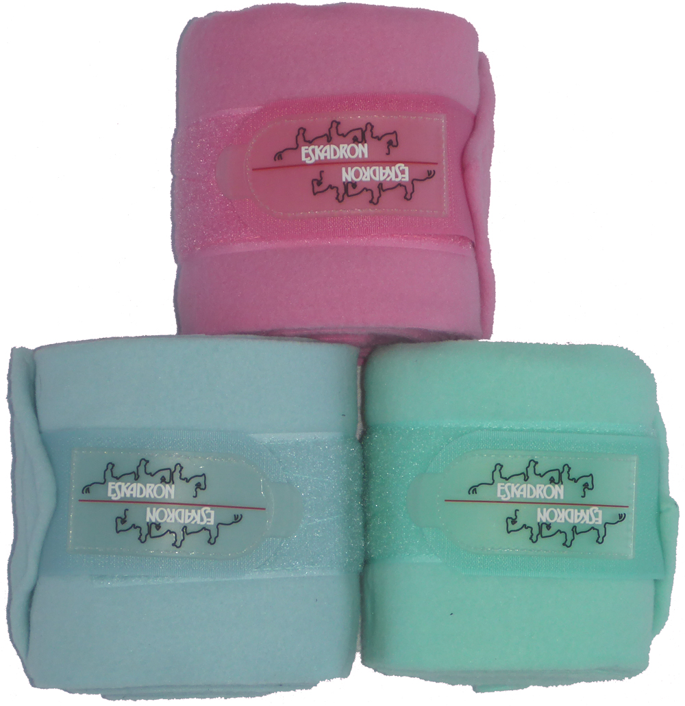 ESKADRON Fleecebandagen in pastell ice, Gr. Warmblut, 4er Set