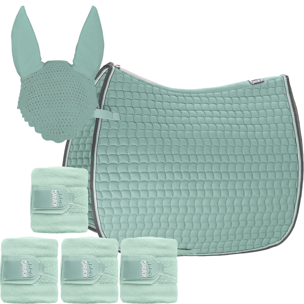 Set Eskadron Basic Cotton Schabracke mit Fliegenohren & Bandagen in ice