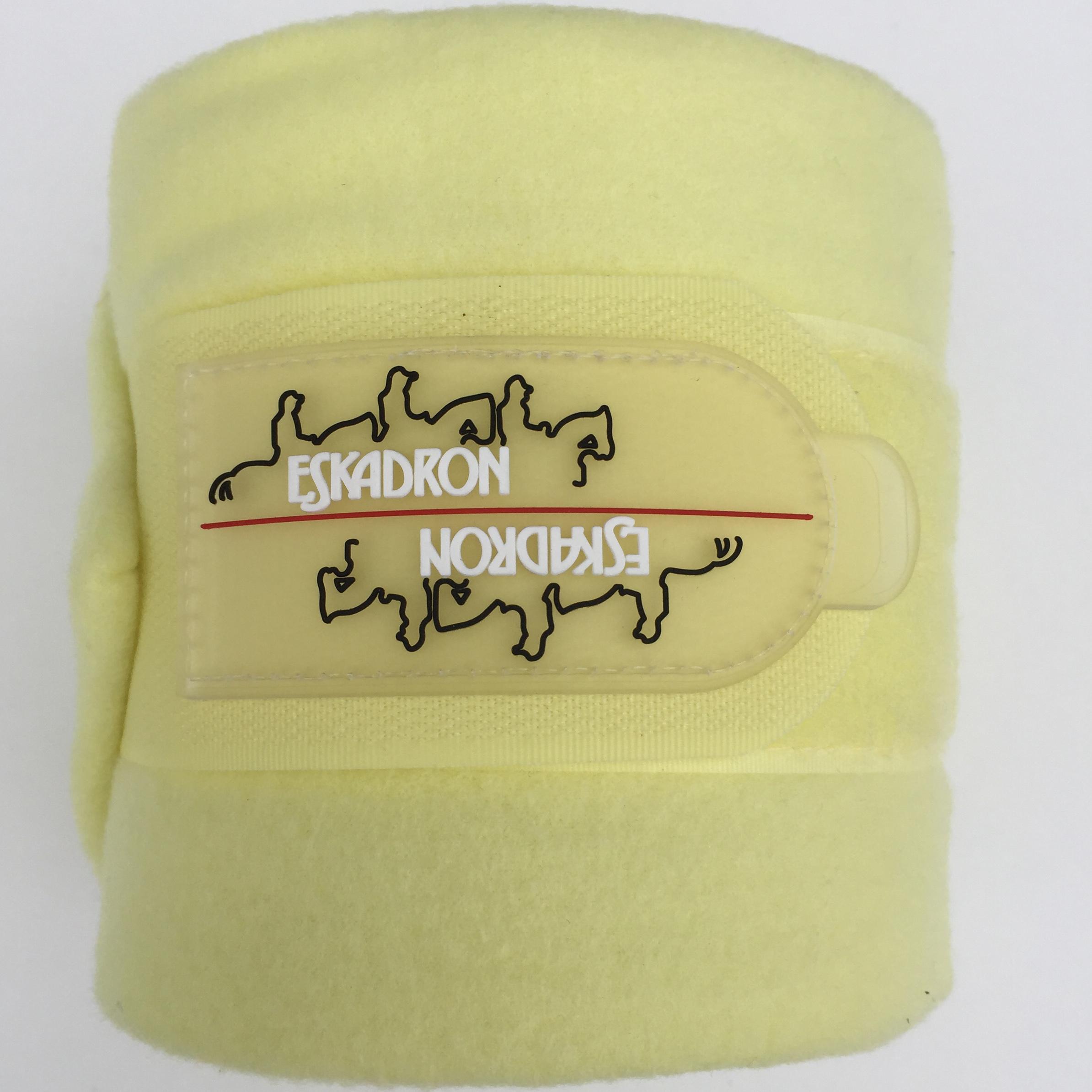 Eskadron Fleecebandagen pastell yellow, 4er Set in Warmblut