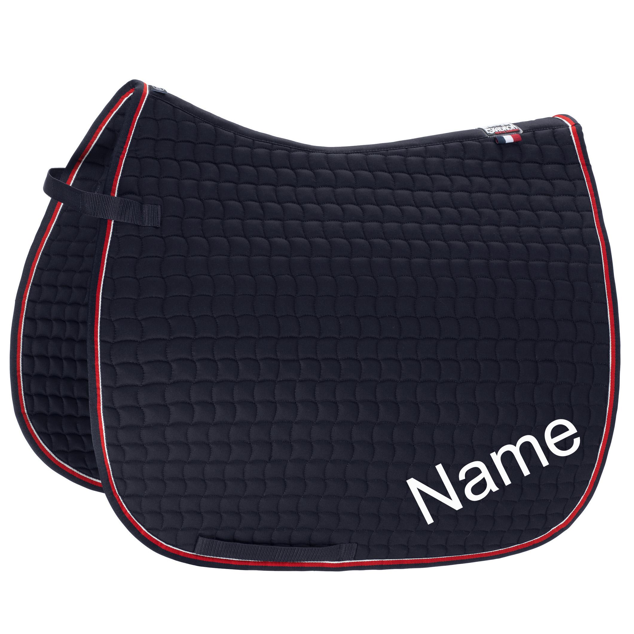 ESKADRON navy/red Cotton Dressur-Schabracke mit individuellem Namen bestickt