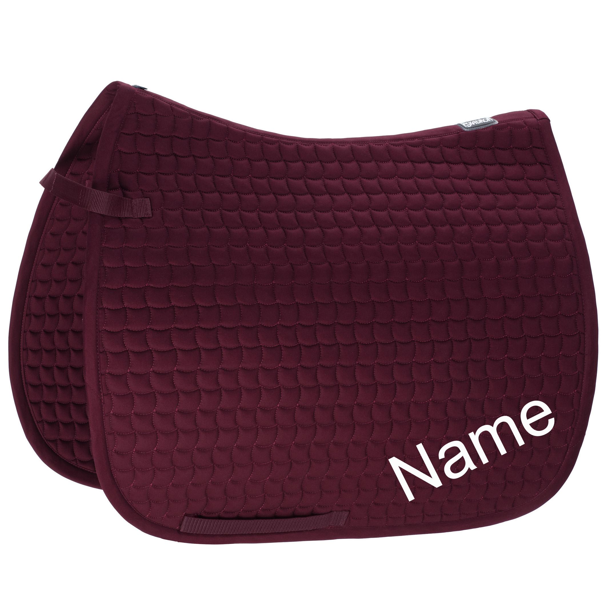 ESKADRON blackberry Cotton Dressur-Schabracke mit individuellem Namen bestickt