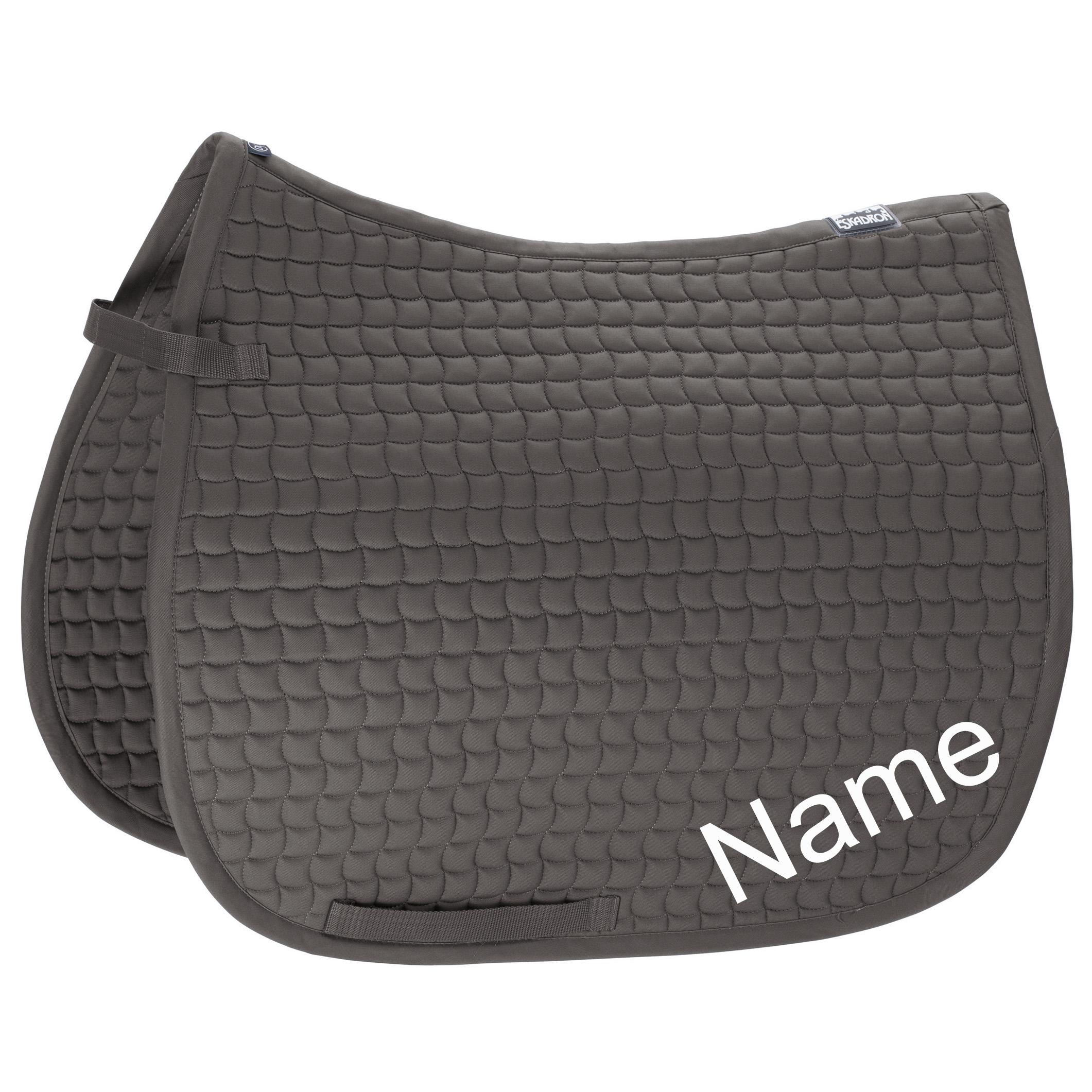 ESKADRON Grey Cotton Dressur-Schabracke mit individuellem Namen bestickt