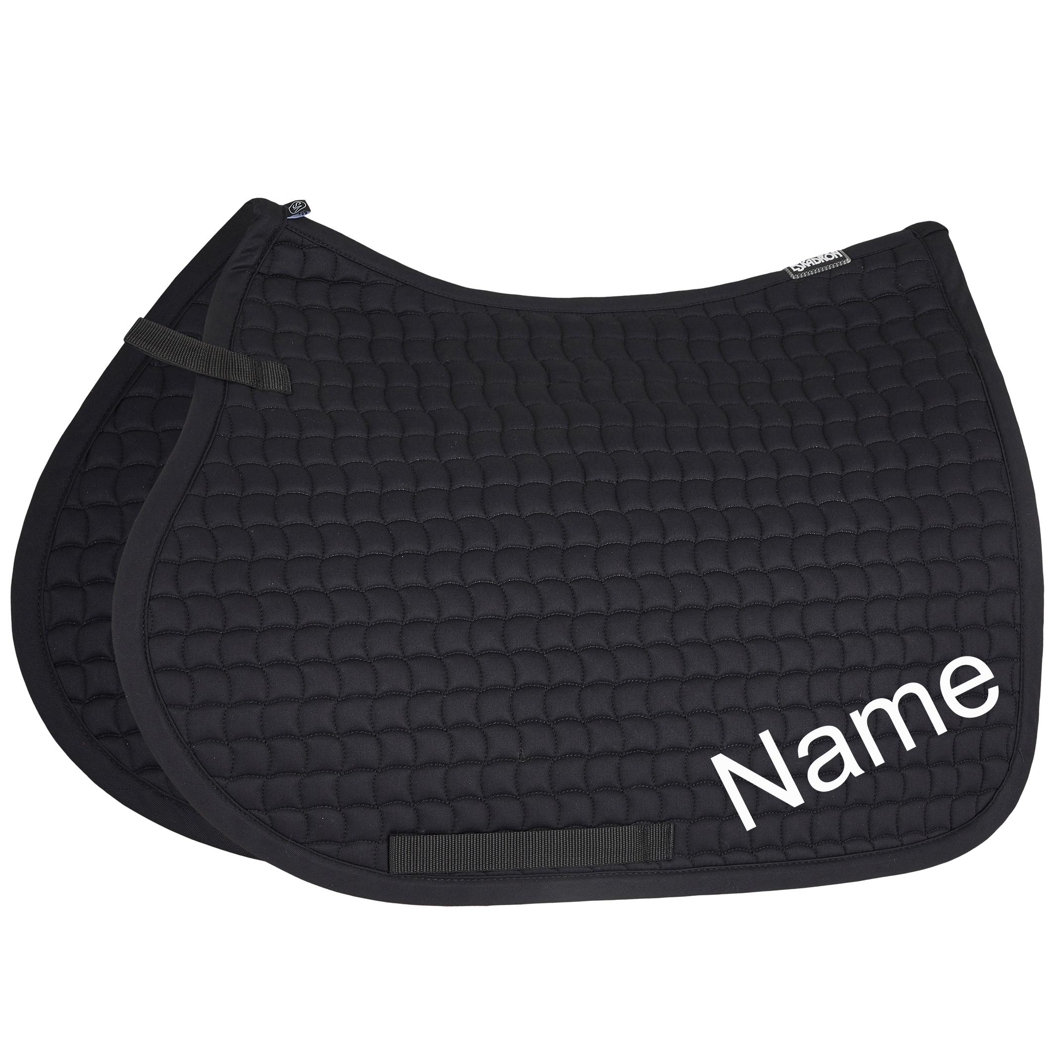 ESKADRON black Cotton VS-Schabracke mit individuellem Namen bestickt