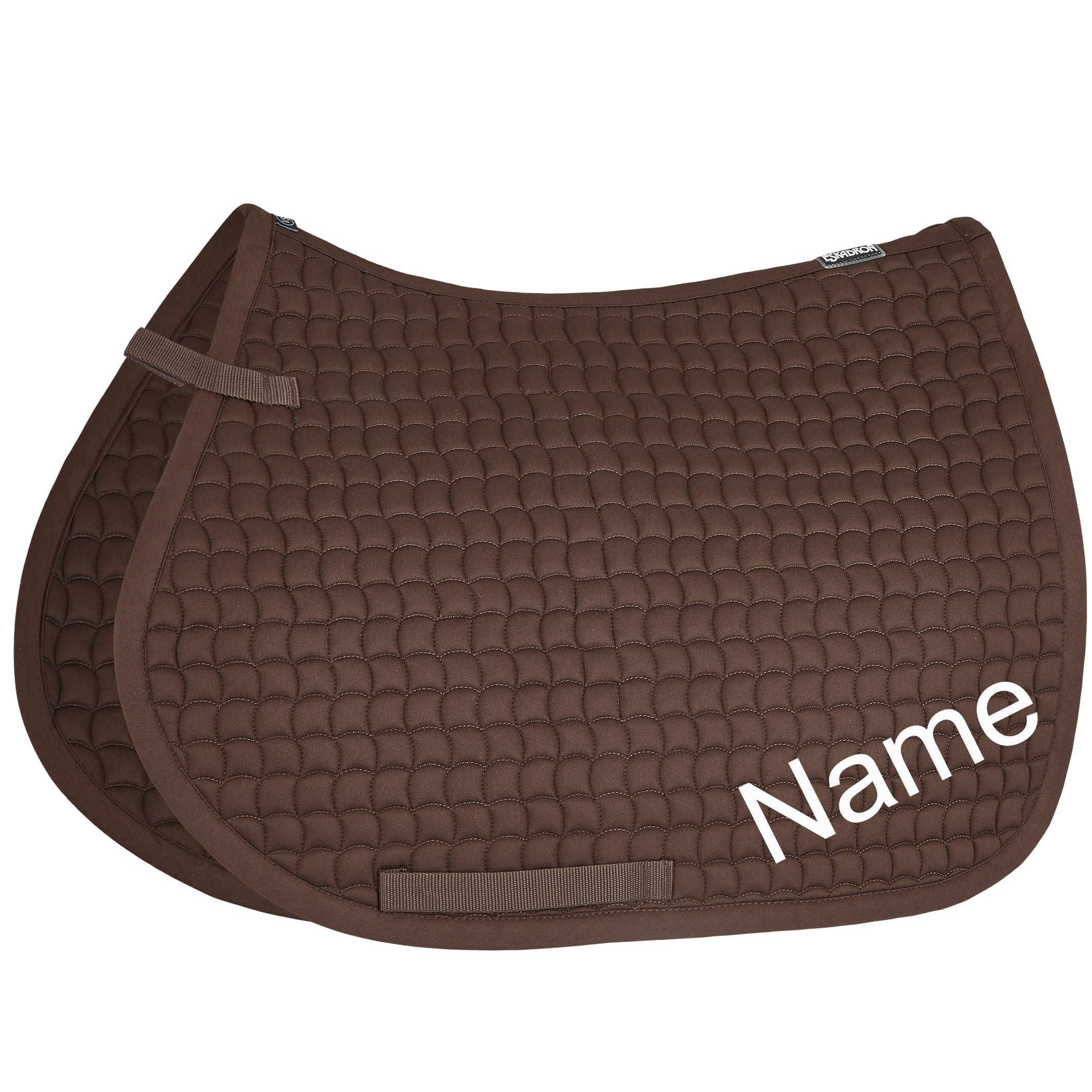ESKADRON darkbrown Cotton VS-Schabracke mit individuellem Namen bestickt