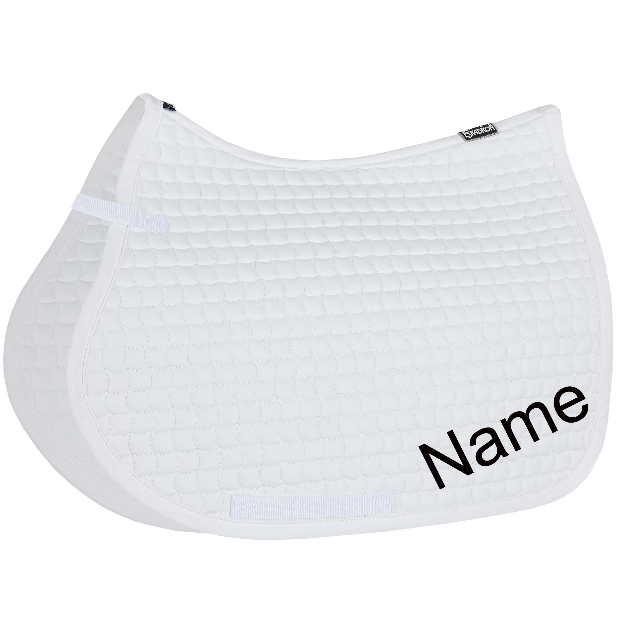 ESKADRON white Cotton VS-Schabracke mit individuellem Namen bestickt