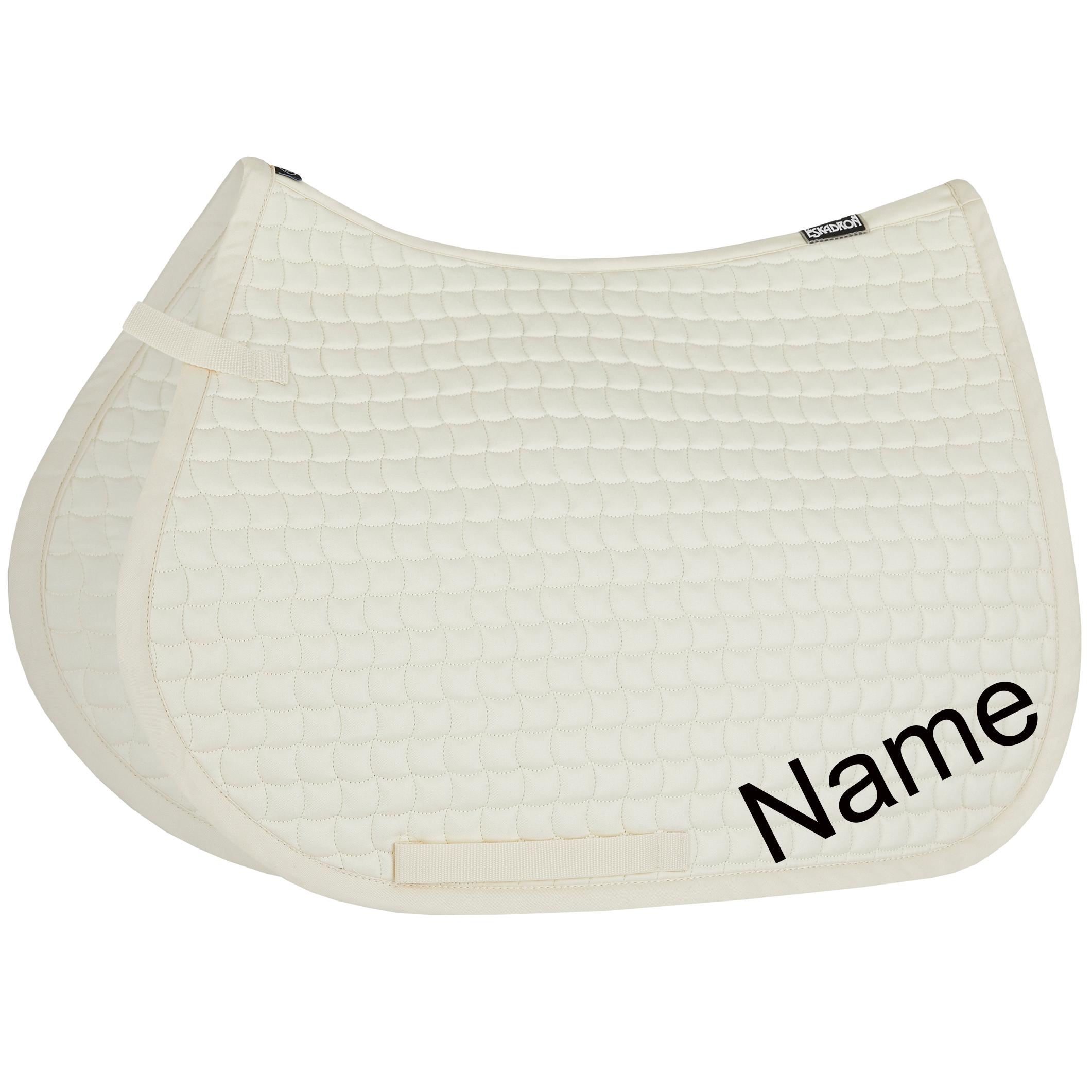 ESKADRON creme Cotton VS-Schabracke mit individuellem Namen bestickt