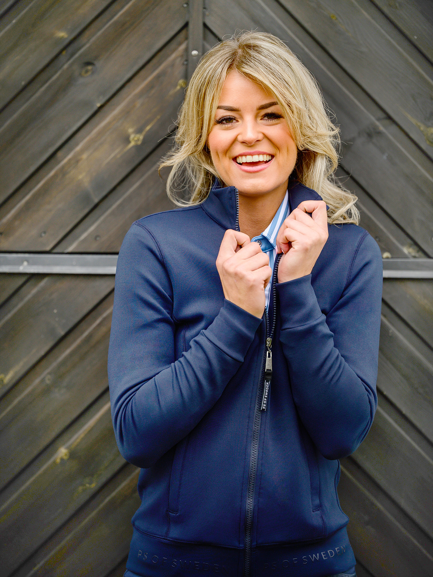 PS of Sweden Base Rinding Jacket Faith in Navy