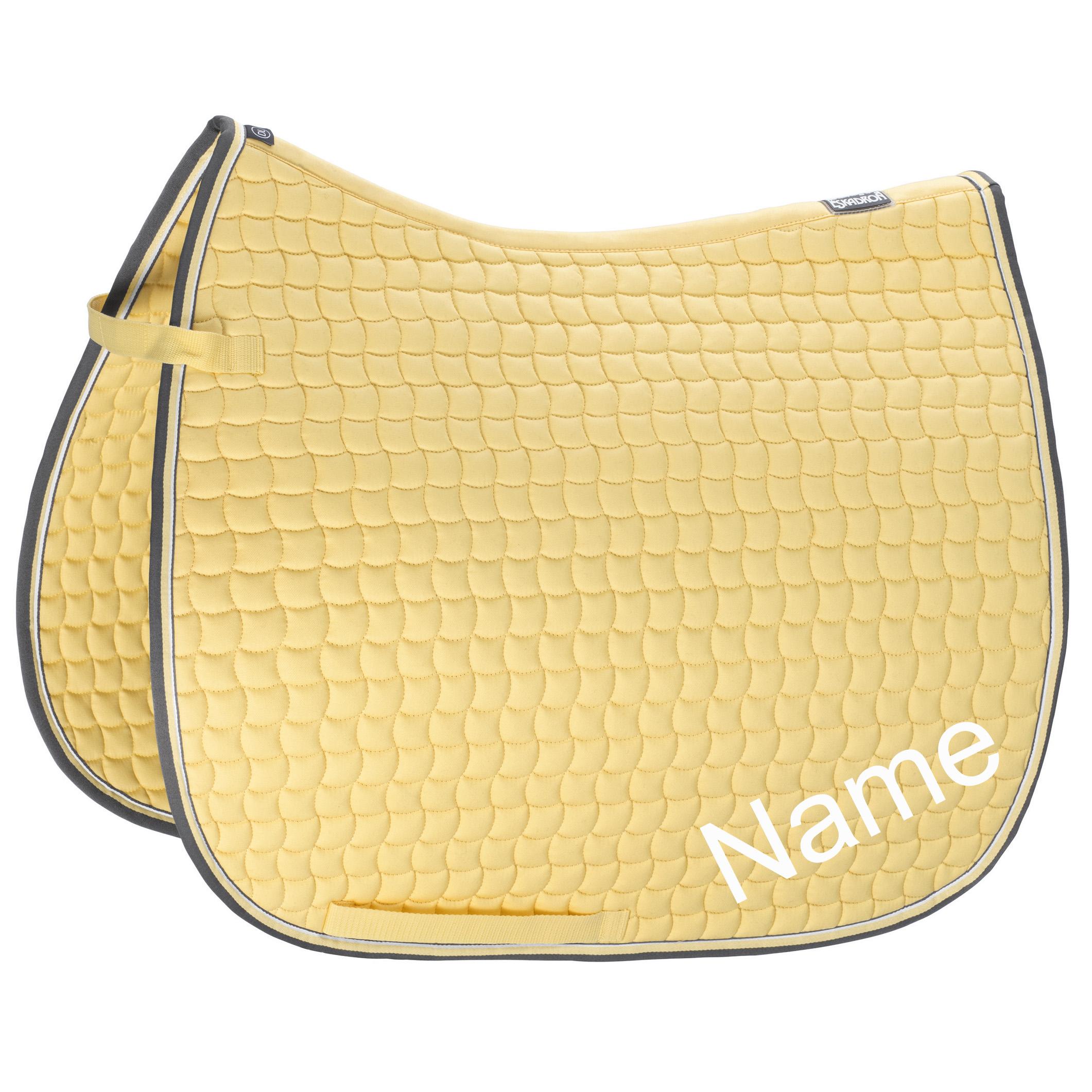 ESKADRON banana Cotton Pony Dressur-Schabracke mit individuellem Namen bestickt