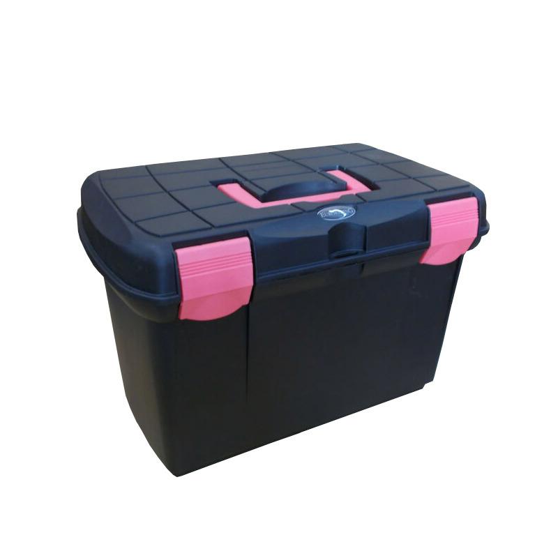Euroriding Putzbox Arrezzo in schwarz/pink