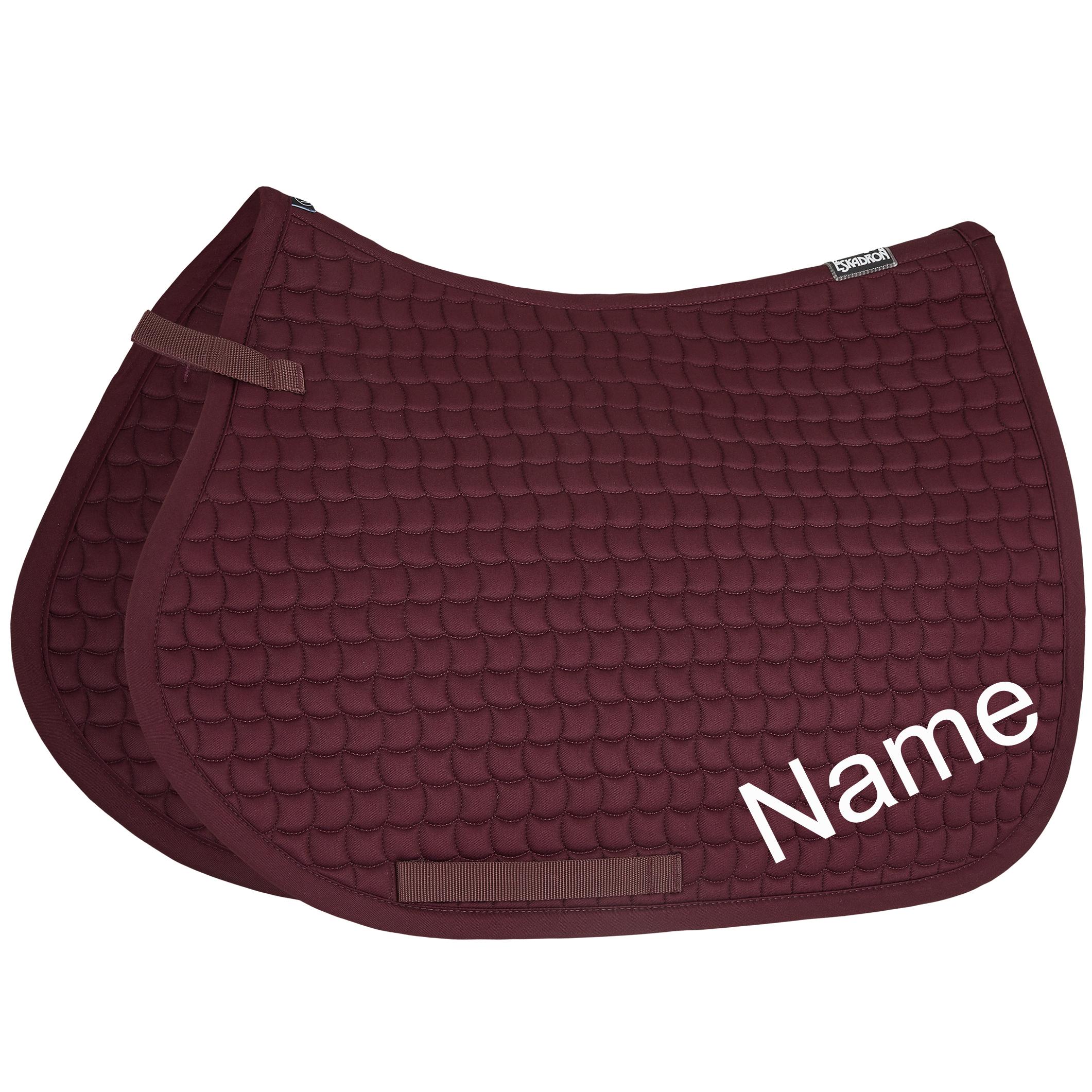ESKADRON blackberry Cotton Pony VS-Schabracke mit individuellem Namen bestickt